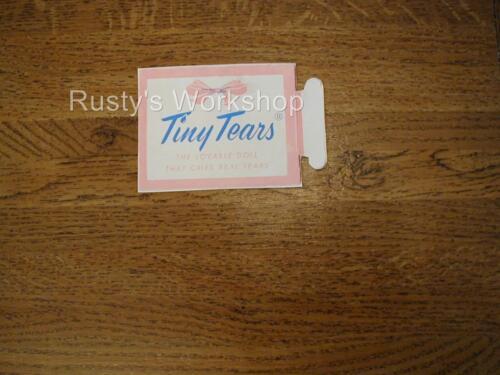 1950/'s Amer Reproduction Character TINY TEARS Doll box Insert TAG