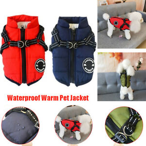 Ski-Suit-Winter-Warmer-Puppy-Harness-Dog-Vest-Pet-Clothes-Padded-Coat
