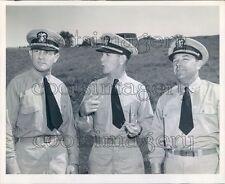 Texas Coaches Lt Cdr Marshall Brown W F Foster Choc Sportsman Press Photo