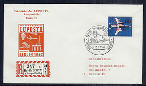 Germany FDC/Ersttagsbrief Registered 1962 Cover - SC 9N208 Perfins Berlin Expo*