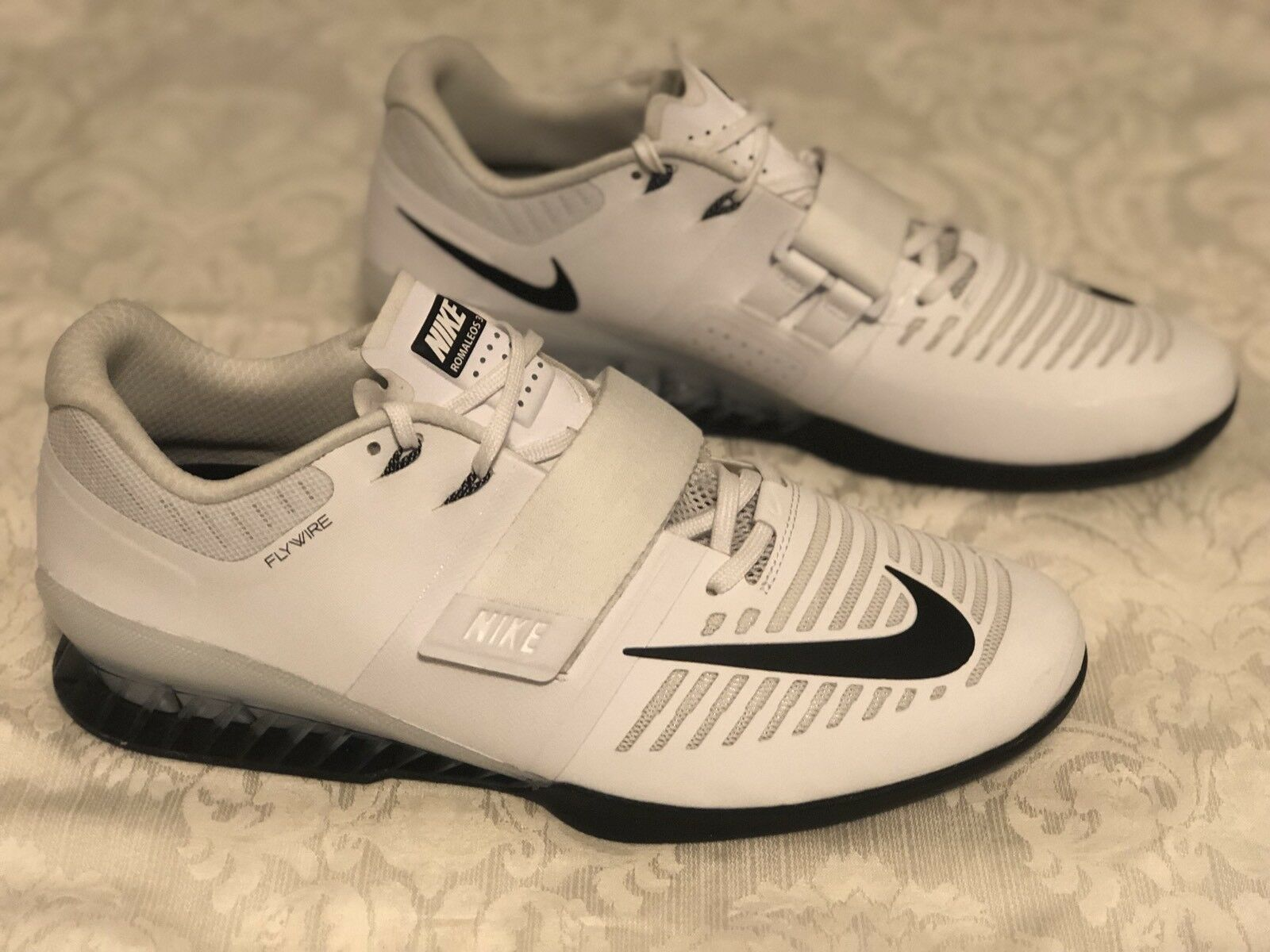 New Size 15 Men's Nike Romaleos 3 Weightlifting Shoes 852933-100 White