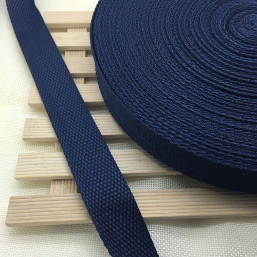 New 20mm//25mm Width  Nylon Webbing Strapping 2//5//10//50 Yards 21 Color Pick YG