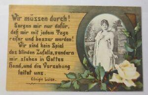 Adel Königin Luise, Spruch, Wir müssen durch,  1909 ♥  (74713)