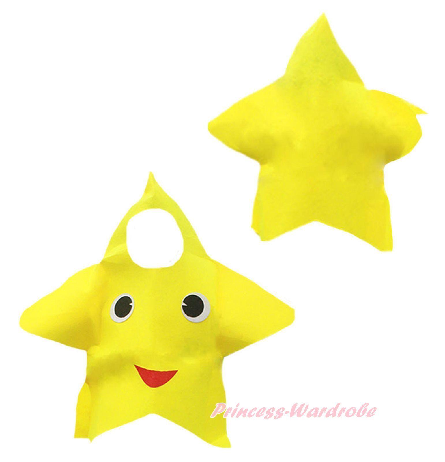 Halloween School Party Yellow Star Kids Children Unisex Costume Cosplay Wear