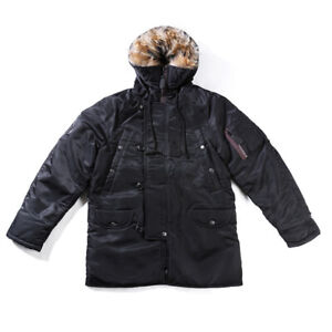 Air-Force-N3B-Flight-Cotton-Jacket-Mens-Winter-Jacket-Parka-Military-Hooded-Coat