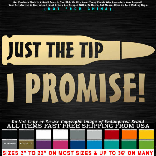 Military Just The Tip I Promise Bullet Sniper Decal sticker truck jeep