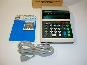 Vintage Toshiba BC-1260A Desktop Electronic Calculator Tested/Working with Box