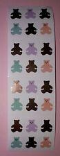 🦁💜Mrs Grossman's 4 Abrisse Mini Bears Scrapbooking Sticker 💜🦁
