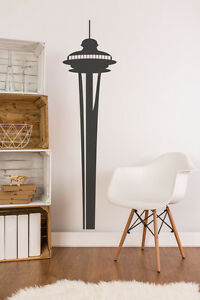 Seattle Wall Art space needle wall decal, retro wall decal, seattle decal, seattle