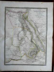 Africa-w-huge-Mts-of-Moon-Hejaz-Arabia-Mecca-Medina-1829-Lapie-large-folio-map