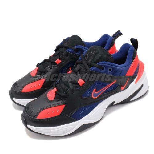 Nike M2K Tekno Black Deep Royal Blue Red White Men Daddy Shoe Sneaker AV4789-006