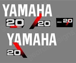 replica YAMAHA 20 Outboard decal set
