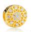 DIY European CZ Crystal Charm Silver Spacer Beads Fit Necklace Bracelet