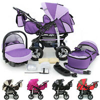Limited Sale Baby Pram Stroller Pushchair Car Seat Carrycot Buggy Travel System