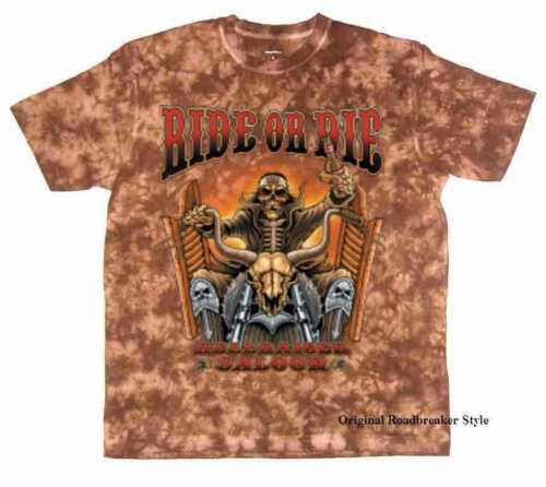 T shirt Batik Brown vintage HD Biker Chopper /& Old schoolmotiv modèle ride or les