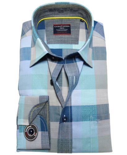 M bis 6XL Blockkaro Casa Moda Comfort Fit Langarmhemd extralanger Arm 72 cm Gr