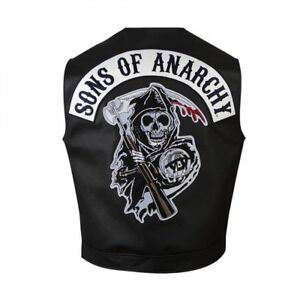 Son Soa Of Club Seasons Anarchy all pelle Special Biker in Mens Gilet New SCqwEfw