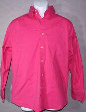 Womens ROAR Leonardo SOLID HOT PINK Button Up LONG SLEEVE DRESS SHIRT LARGE