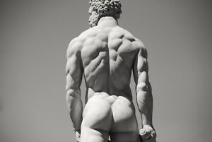 Framed-Print-Hercules-Statue-Florence-Italy-Picture-Mythology-Fantasy-Art