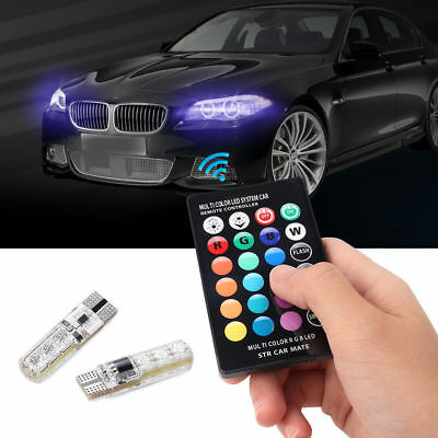 T10 5050 Remote Control Car Led Bulb 6 Smd Multicolor W5w 501 Side Light Bulbs