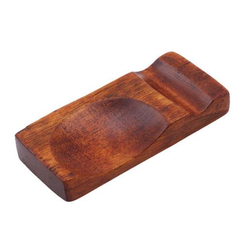 Natural Wooden Chopsticks Holder Chopstick Rest Rack Spoon Stand YD
