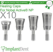 10 Healing Cap For 35mm Nobel Biocare Active Hex Np Dental
