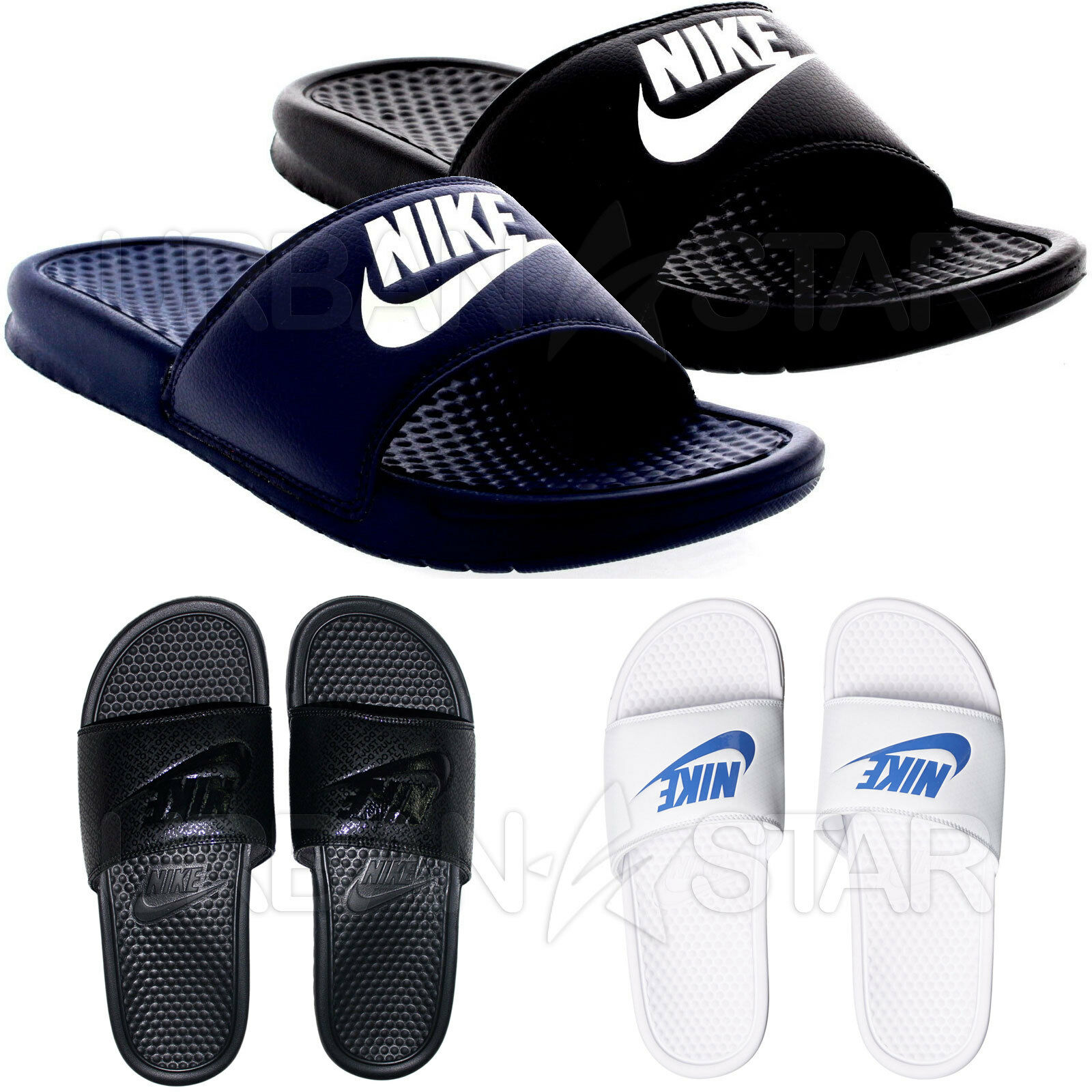 5f5a17960 Nike Spencer JDI Men s Beach Shoes Slide Bath Slippers Sandals Shower EUR  46 Dark Blue 343880403 for sale online