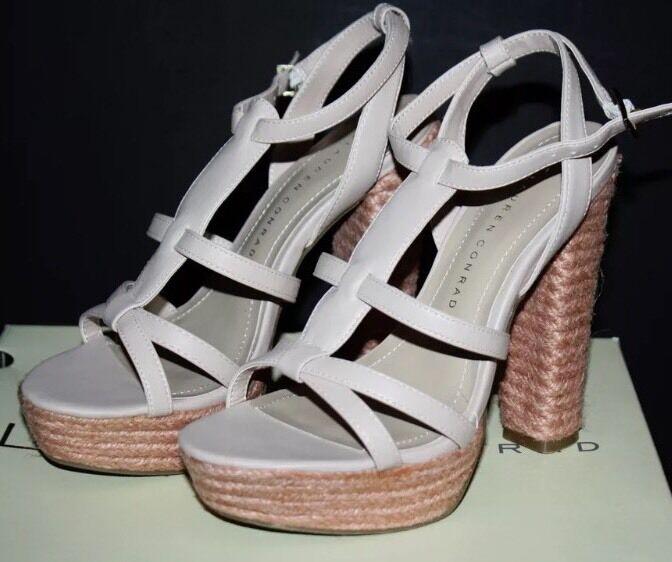 NEW Lauren Size Conrad Pink Blush Josephine Strappy Platform Sandals Size Lauren 9.5 or 6 cb44ba