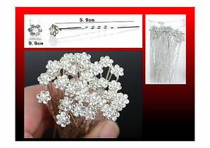 Bridal Wedding Crystal Diamante Pearl Flower Hair Pins Clips Grips Free Delivery