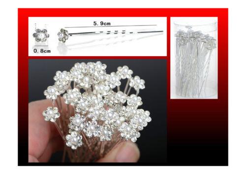 SPOSA Crystal Diamante Perla Fiore Per Capelli Pin Clip Grip consegna gratuita
