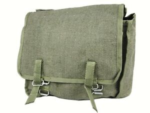 38063aedf77c NEW Retro Style Olive Green Army Canvas Webbing Haversack Satchel Messenger  Bag