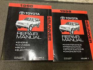 1998-Toyota-4RUNNER-4-Corredor-Servicio-Tienda-Reparar-Taller-Manual-Juego-Nuevo