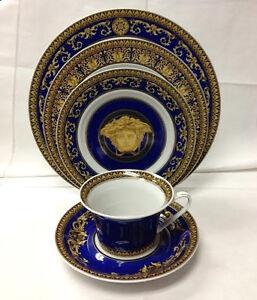 Image is loading VERSACE-MEDUSA-BLUE-5-PIECE-PLACE-SETTING-BRAND- & VERSACE MEDUSA BLUE 5 PIECE PLACE SETTING / BRAND NEW ROSENTHAL | eBay