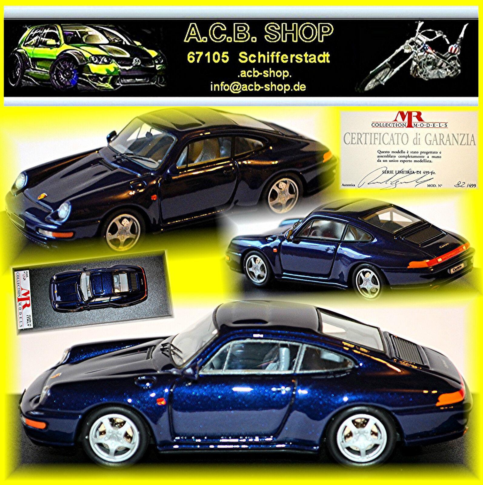 PORSCHE 911 993 993 993 autorera 4s COUPE 1993-98 BLU blu METtuttiIC 1 43 MR-modello 4fbcca