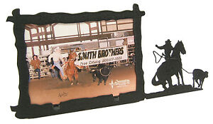 Girl-Woman-Breakaway-Roping-Rodeo-Picture-Frame-3-5-034-x5-034-3-034-x5-034-H