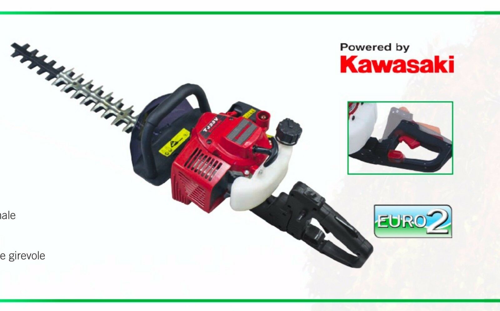 HEDGE trimmer petrol KAWASAKI 22,5cc trimmer slice hedges 60cm ATTILA 600 K