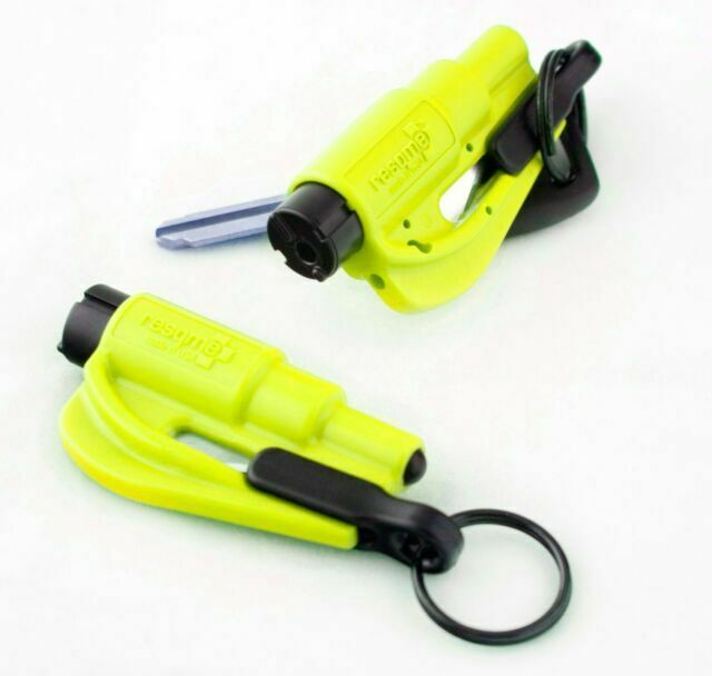 2 Pack New Resqme Escape Tools seatbelt cutter glass breaker BLACK USA SELLER