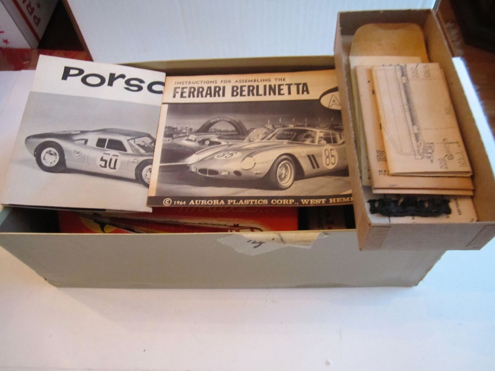 VINTAGE LOT OF MODELS, BROCHURES, DECALS & ACCESSORIES - LARGE LOT -  BB-1