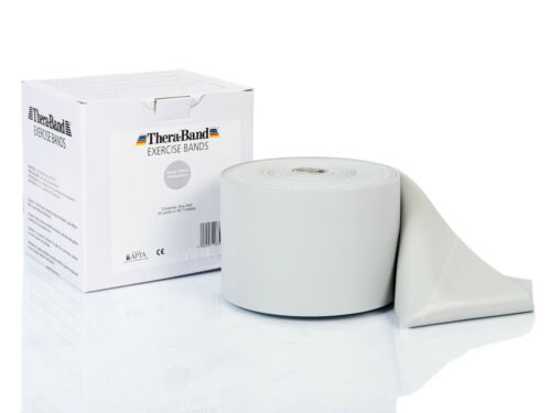 TheraBand ® Übungsband Rolle 45,50 m super stark silber Thera Band NEU OVP