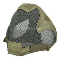 Paintball Airsoft Tactical Wire Mesh Full Face Protection Mask Bb Proof Od Green