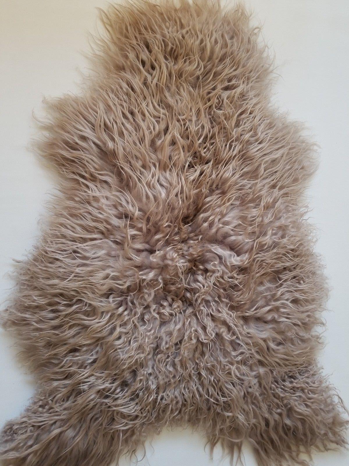 Curly Icelandic Sheepskin rug long ,soft wool  100% 100% 100% natural 9911d7