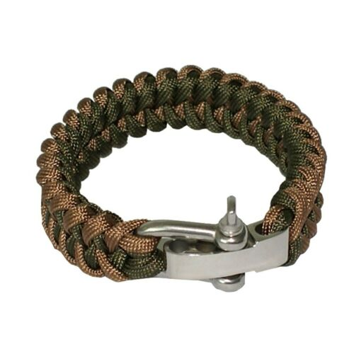 Yougle Survival Adjustable 550 Paracord Bracelet Parachute Cord Wrist Band With
