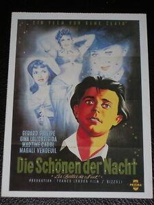 Filmkarte - Cinema - Die Schönen der Nacht - Karlsruhe, Deutschland - Filmkarte - Cinema - Die Schönen der Nacht - Karlsruhe, Deutschland