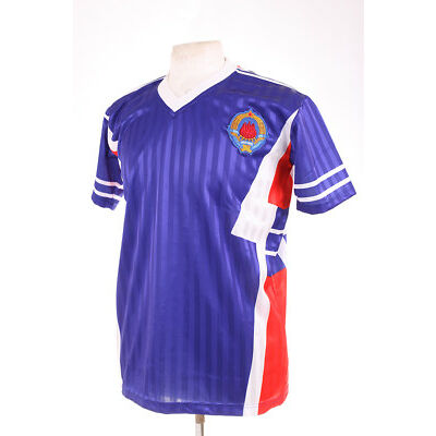 YUGOSLAVIA BLUE ITALIA 90 1990 RETRO REPLICA FOOTBALL SHIRT XL EXTRA LARGE