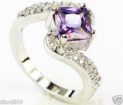 gorgeous 925 Silver Glod Filled Tanzanite 3.2ct fine Ring Size6-size10 wedding