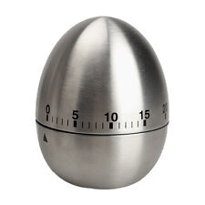 60 Minute Minder Mechanical kitchen Timer stainless steel egg timer alarm