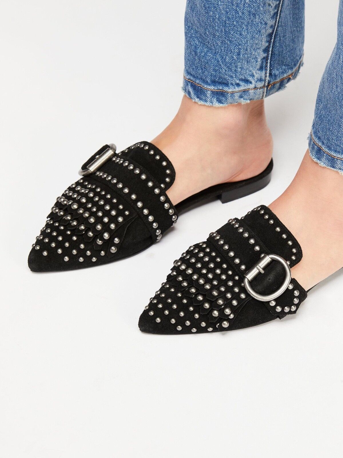 NEW Free People + Jeffrey Campbell Wanderer Stud Flat Dimensione 8 MSRP   148
