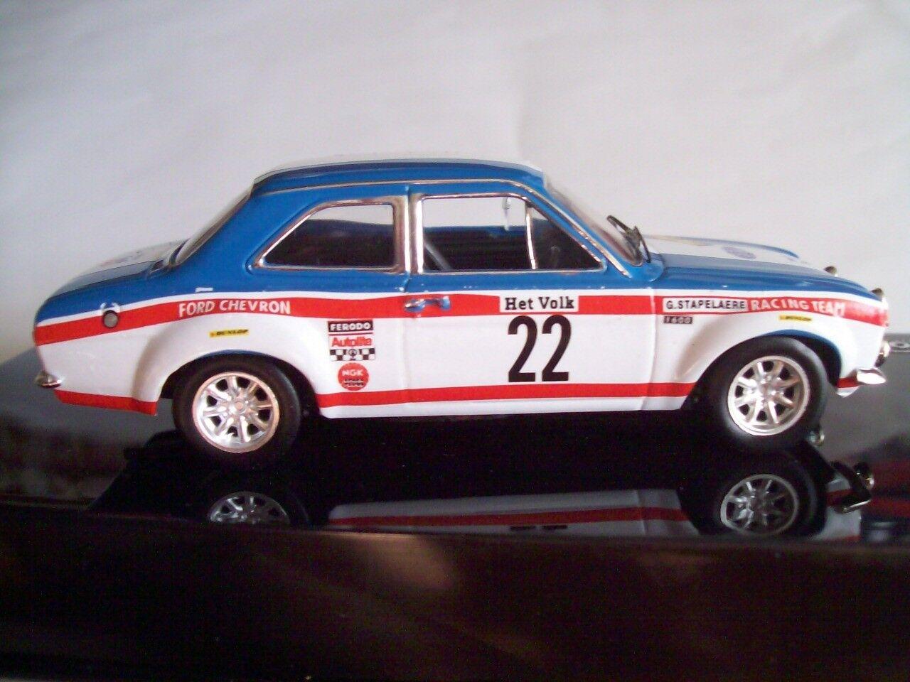 1970 FORD ESCORT 1600 Mk1 WINNER YPRES RALLY - STAEPELAERE AERTS - IXO 1 43 NEW