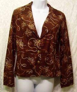 Vintage-HIPPIE-BoHo-Embroidered-BROWN-Corduroy-JEWEL-BUTTON-Crop-DALI-Jacket-3