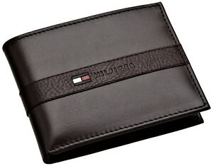 Tommy Hilfiger Men S Leather Bifold Wallet With Removal Card Holder Ebay